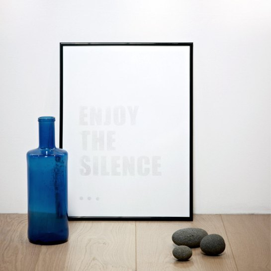 enjoy the silence print by coniLab