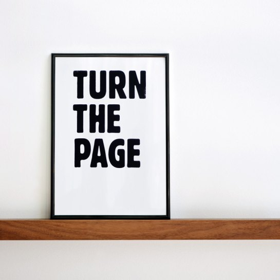 turn the page print by coniLab